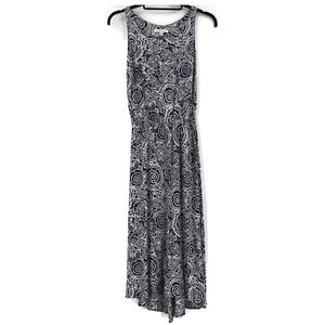 CAbi Twirl Hi Low Maxi Dress #314 Navy White